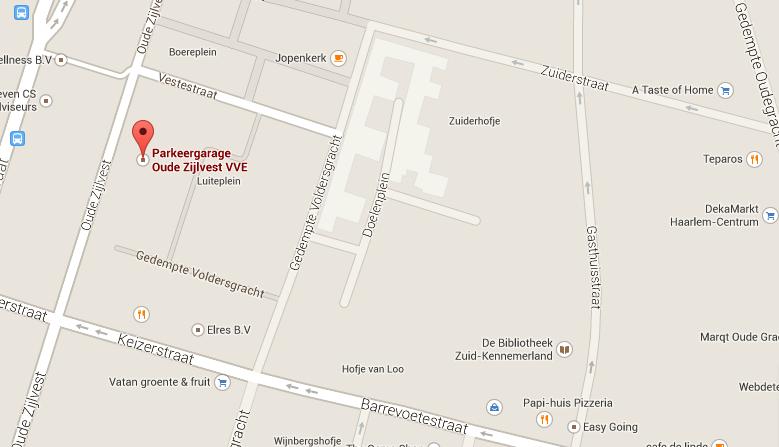 Oude Zijlvest 29parkeer, Haarlem Haarlem